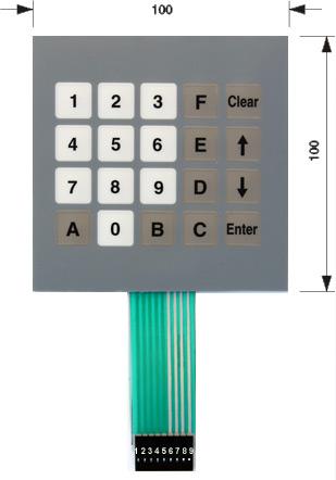 Membrane keypad - k-tronic